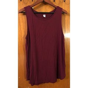 Burgundy Old Navy tank top